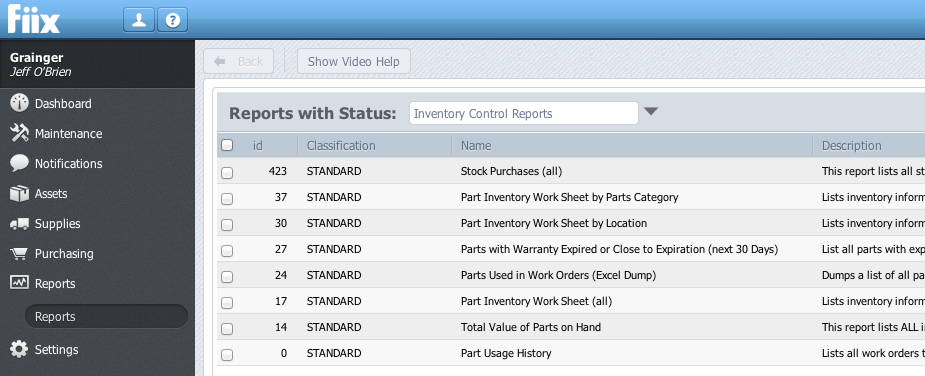 CMMS-Inventory-Control-Reports