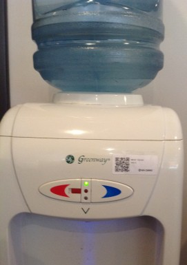 Water Cooler with QR code