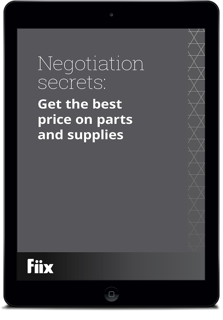 iPad with Negotiation secrets: Get the best price on parts and supplies on screen