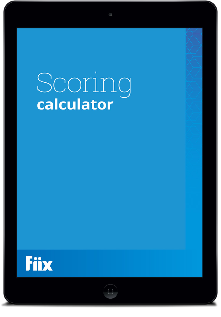 Fiix scoring calculator iPad