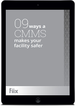 iPad with 9 Ways a CMMS makes your facility safer on screen