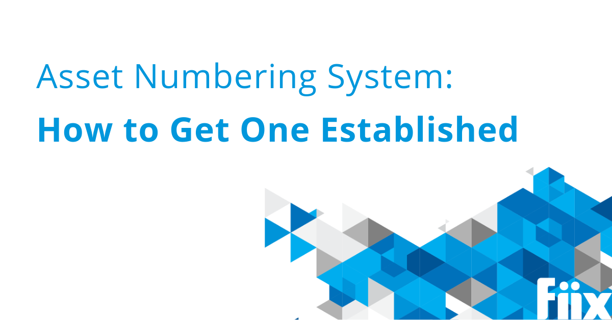 Asset Numbering System- How to Get One Established