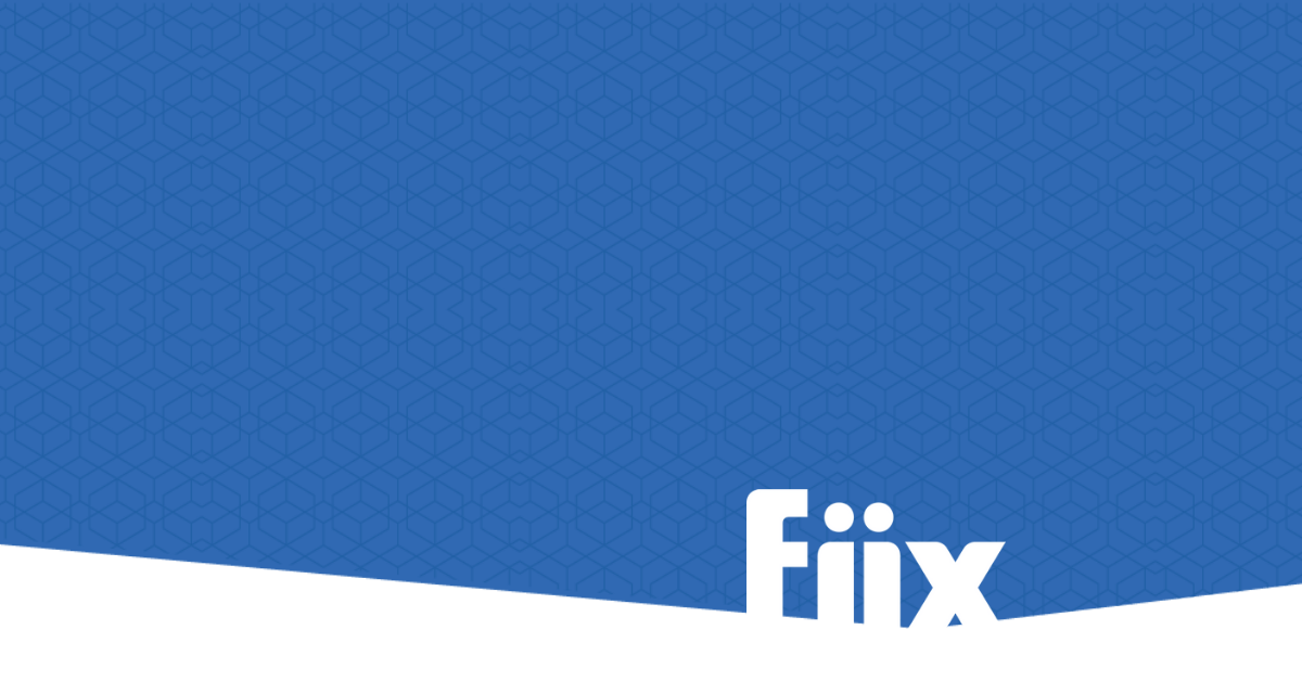 Fiix logo on pattern