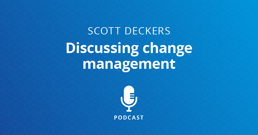 Discussing change management
