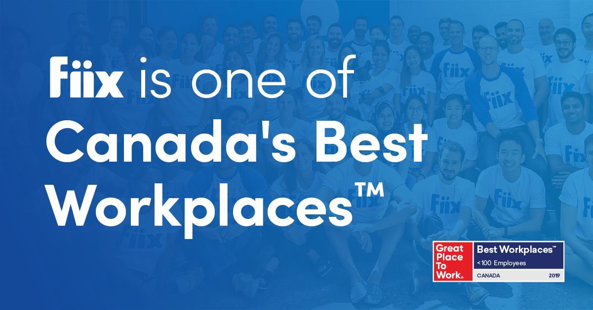 Fiix is one of Canada's Best Workplaces