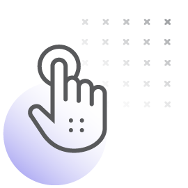 hand pushing button icon