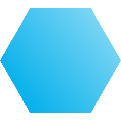 blue hexagon graphic