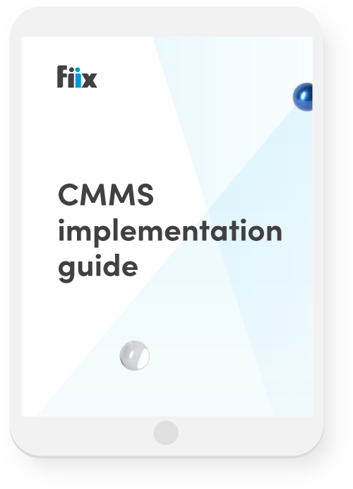 iPad with CMMS: Implementation Guide on screen
