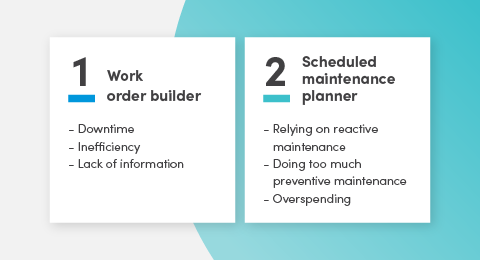 7 CMMS features that solve 90% of your maintenance problems graphic