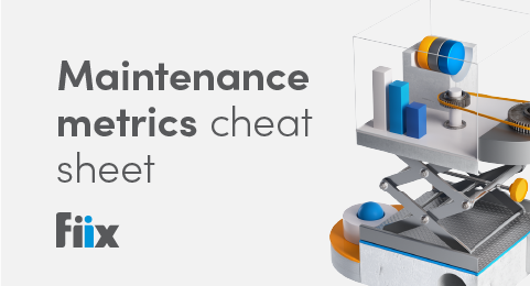 Maintenance metrics cheat sheet graphic