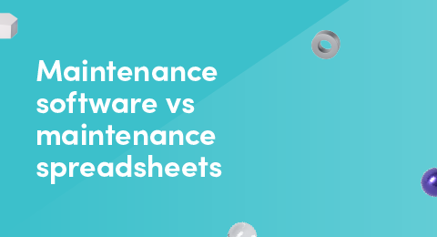 Maintenance software vs maintenance spreadsheets graphic