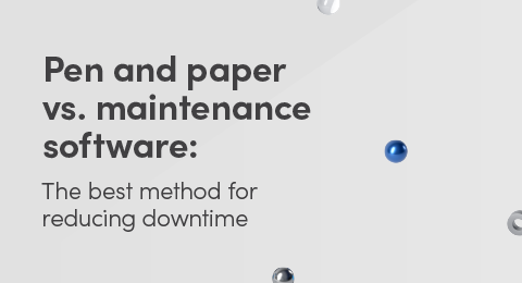 Pen and paper vs. maintenance software graphic