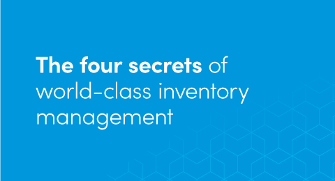 The four secrets of world-class inventory management graphic