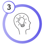 icon of a head and lightbulb