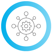 icon of a gear with graph