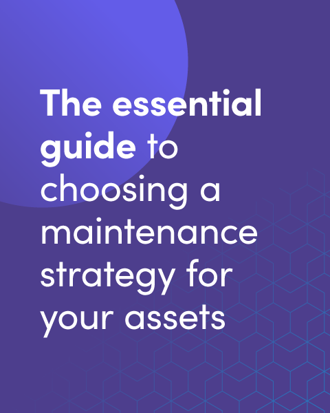 The essential guide to choosing a maintenance strategy for your assets graphic