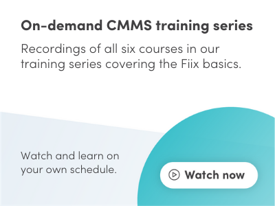 On-demand CMMS training series