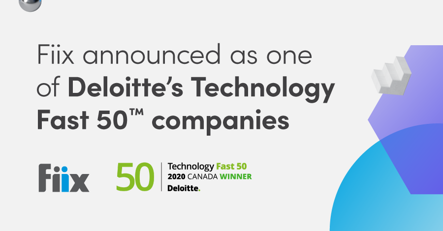 Fiix announced as one of Deloitte's Technology Fast 50 companies