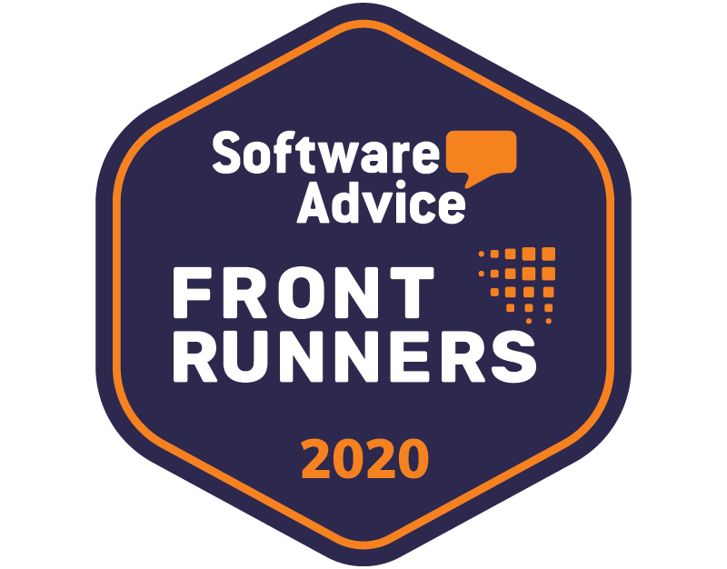Software Advice Front Runners winner 2020 badge