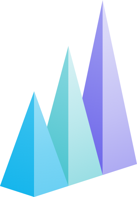 graphic of three triangles