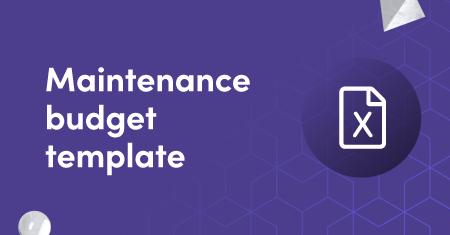 Maintenance budget template