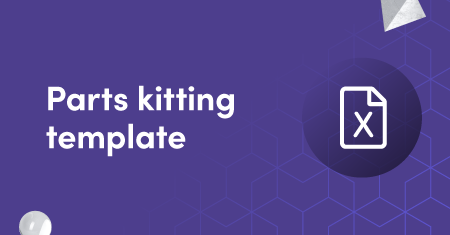 Parts kitting template