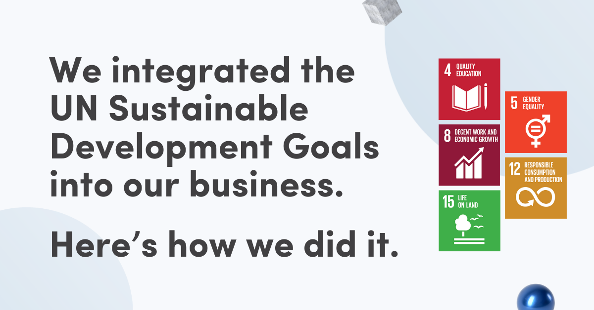 How We Integrated The UN SDGs Into Our Business