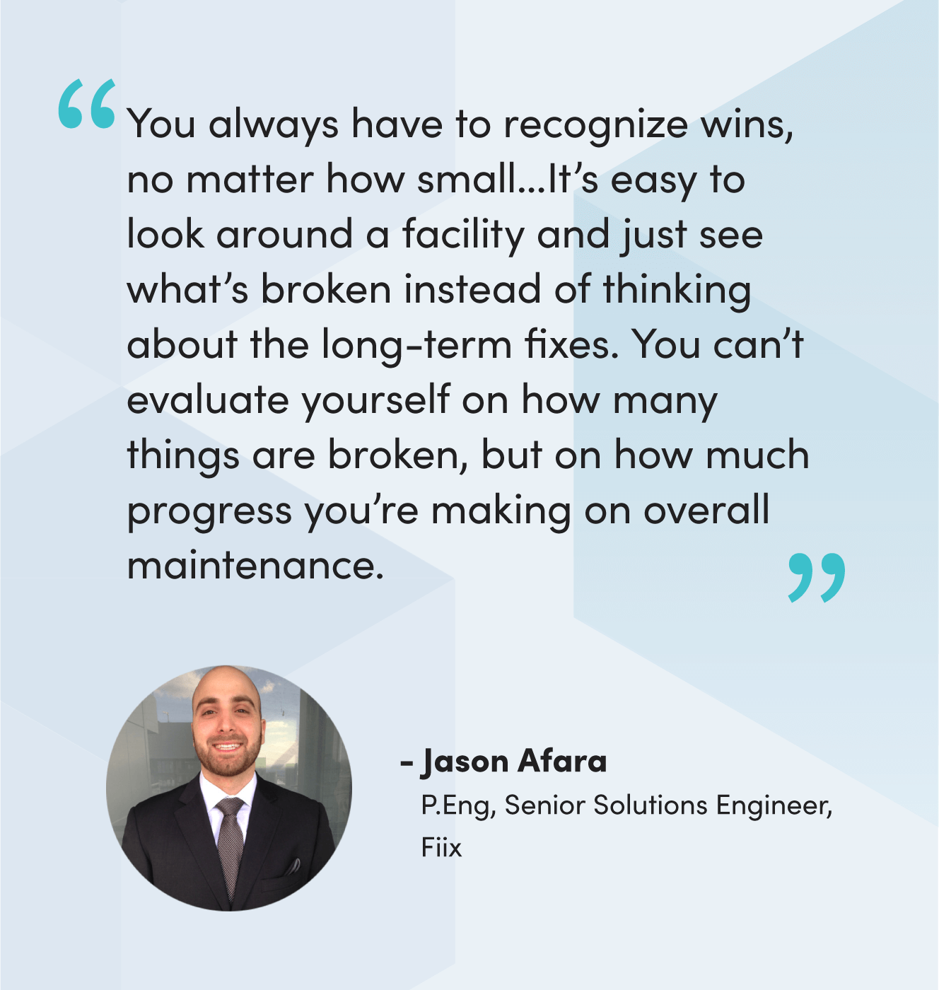 Quote from Jason Afara