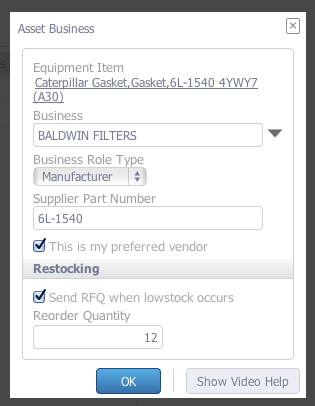 CMMS Auto Reordering